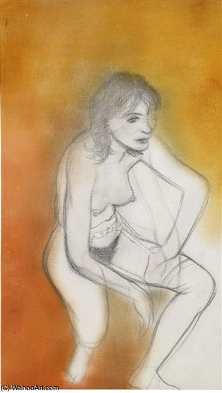 Linda por Ronald Brooks Kitaj (1932-2007, United States)