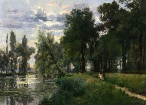 Alexandre Rene Veron - Walking By The River