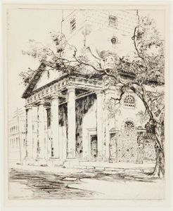 Alfred Heber Hutty - old st . Michael's , Charleston