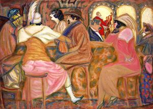Boris Dmitrievich Grigoriev - Cafe Paris