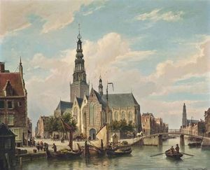 Cornelis Christiaan Dommelshuizen - Remo em um amsterdam canal