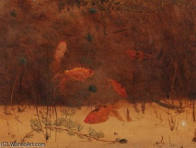 Gold-fish por Gerrit Willem Dijsselhof (1866-1924, Netherlands)