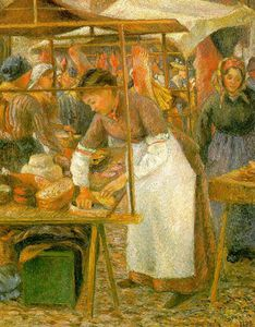 Camille Pissarro - the butcher pork - tate galeria , em londres -