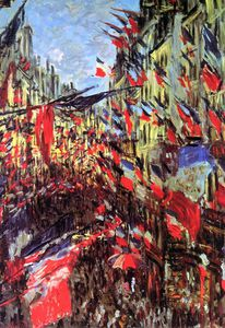 Claude Monet - Rue Saint-Denis festa Sun