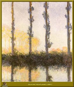 Claude Monet - peupliers quatre