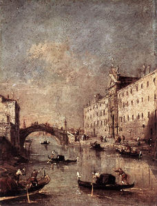 Francesco Lazzaro Guardi - rio dei mendicanti