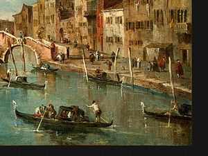 Francesco Lazzaro Guardi - Vista sobre o canal cannaregio