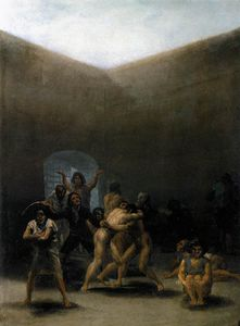 Francisco De Goya - The Yard de um Madhouse