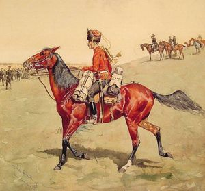 Frederic Remington - Hussardo russo  guarda  corpo