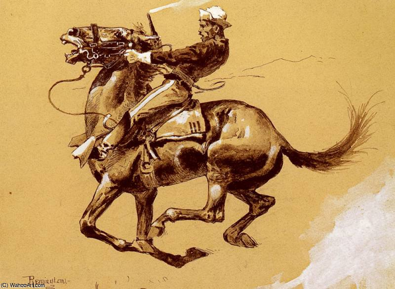 feio por Frederic Remington (1861-1909, United States)