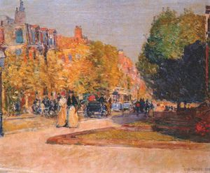 Frederick Childe Hassam - Marlborough Street, Boston