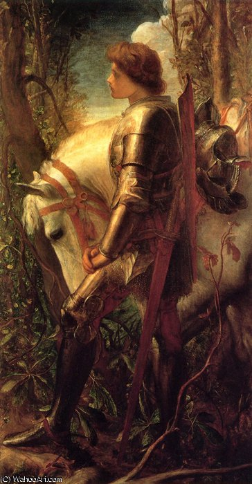sir galahad por Frederick Waters (William) Watts (1800-1870, United Kingdom) | Copy Pintura | WahooArt.com