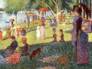 Georges Pierre Seurat - domingo tarde no Ilha de Rede local grande jatte