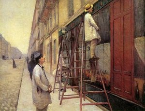 Gustave Caillebotte - Os pintores sinal do sol