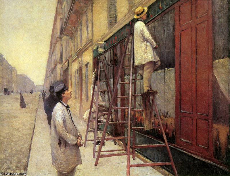 Os pintores sinal do sol por Gustave Caillebotte (1848-1894, France)