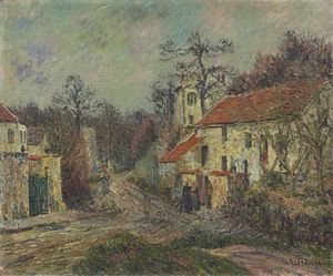 Gustave Loiseau - Inverno em Chaponival