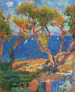 Henri Jean Guillaume Martin - Olive Trees by the Sea