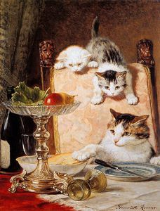 Henriette Ronner Knip - les ameurs o fromage sol