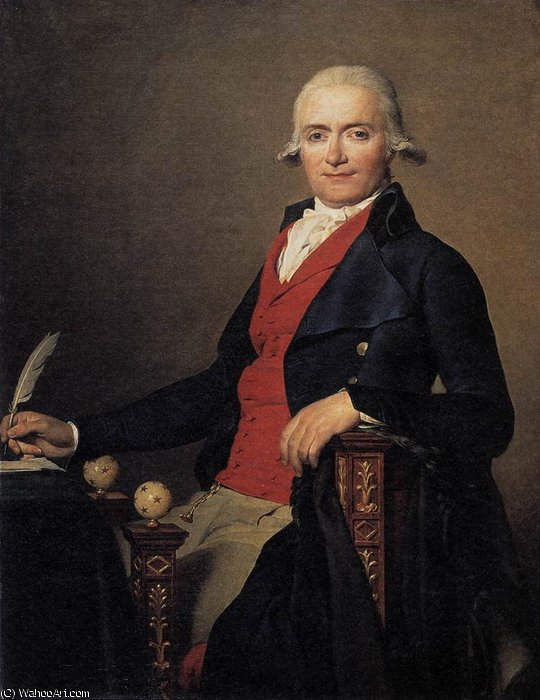 Retrato de gaspar mayer por Jacques Louis David (1748-1800, France) | Copy Pintura | WahooArt.com