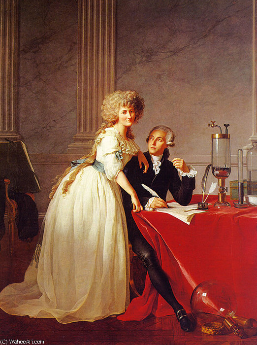 Retrato de monsieur lavoisier e a mulher dele por Jacques Louis David (1748-1800, France)