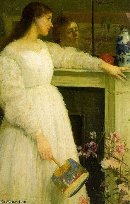 Sinfonia em branco no 2 The Girl Little White por James Abbott Mcneill Whistler (1834-1903, United States)