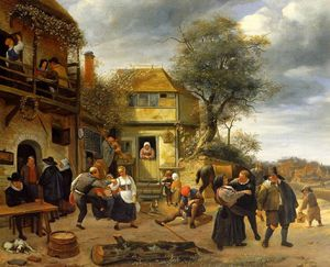 Jan Havicksz Steen - camponeses