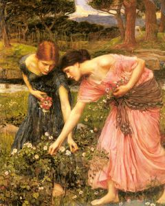 John William Waterhouse - Rosebuds do YE recolhimento quando o YE puder