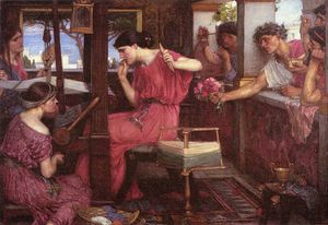 John William Waterhouse - Penélope e os pretendentes