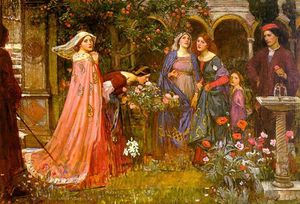 John William Waterhouse - o encantado  jardim
