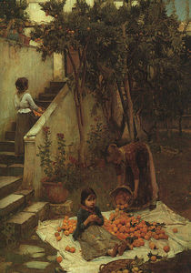 John William Waterhouse - o laranja  Coletores