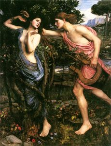 John William Waterhouse - Apollo e Daphne