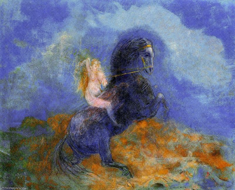 untitled (989) por Odilon Redon (1840-1916, France)
