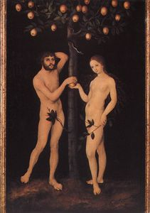 Lucas Cranach The Elder - Adão e Eva