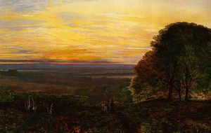 John Atkinson Grimshaw - pôr do sol de chilworth comum , Hampshire