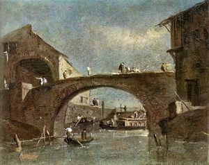 Francesco Lazzaro Guardi - Ponte na Dolo