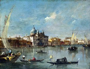 Francesco Lazzaro Guardi - o giudecca com o Zitelle
