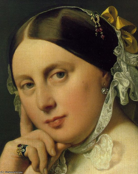 delphine ramel , ingres madame d2 por Jean Auguste Dominique Ingres (1780-1867, France)