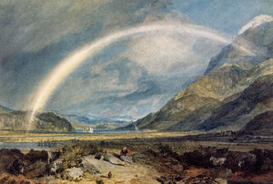 William Turner - kilchern castelo com as montanhas de ben cruchan escócia noon