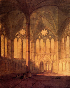 William Turner - o capítulo casa  Salisbury catedral