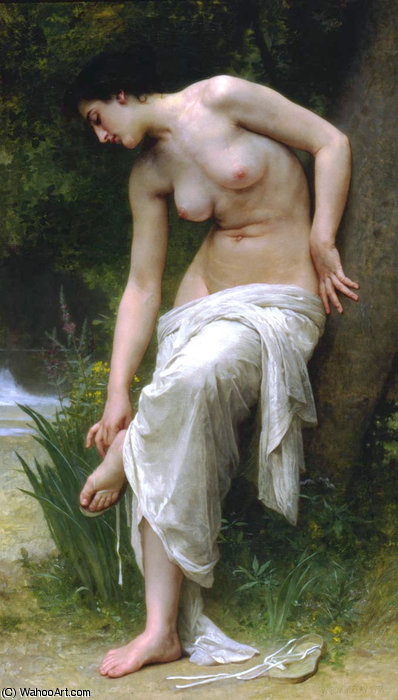 Apres le bain por William Adolphe Bouguereau (1825-1905, France)