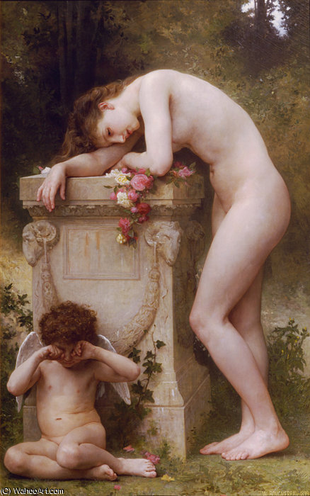 Douleur damour por William Adolphe Bouguereau (1825-1905, France)