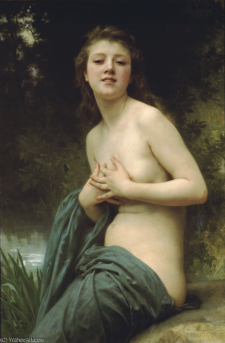 La brie du printemps por William Adolphe Bouguereau (1825-1905, France)