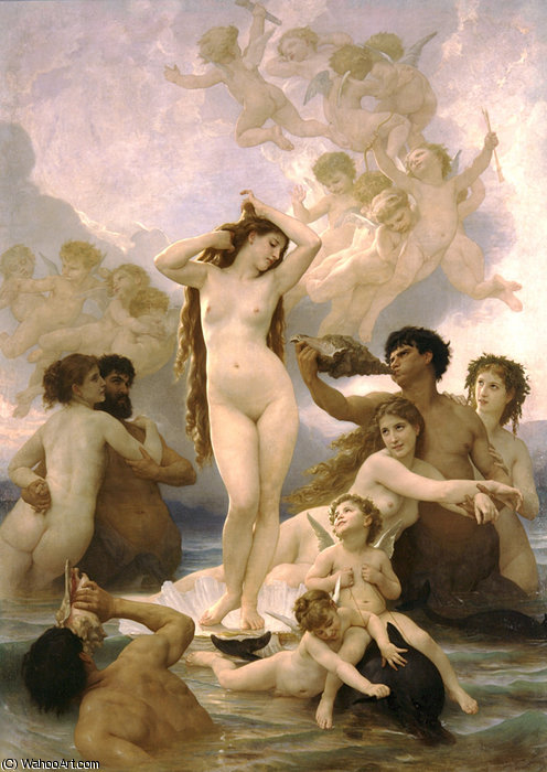Naissance de Vênus por William Adolphe Bouguereau (1825-1905, France) | Copy Pintura | WahooArt.com