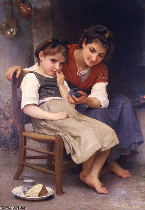 Boudeuse petite por William Adolphe Bouguereau (1825-1905, France)