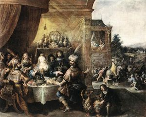Frans Francken The Younger - festa da Esther