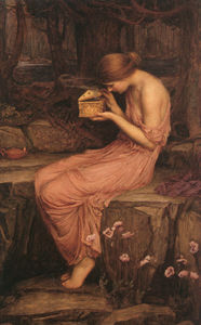 John William Waterhouse - Psique Abrindo a Caixa de Ouro CGFA