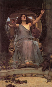 John William Waterhouse - Waterhuse Circe que oferece o copo a Ulysses