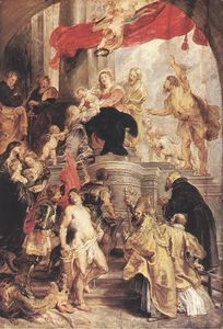 Peter Paul Rubens - Bethrotal de st Catherine ( esboço )
