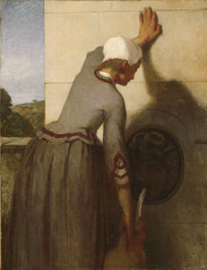 William Morris Hunt - menina no o  fonte