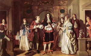 William Powell Frith - Uma cena de Molieres Lavare